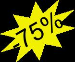 Przecena -75%